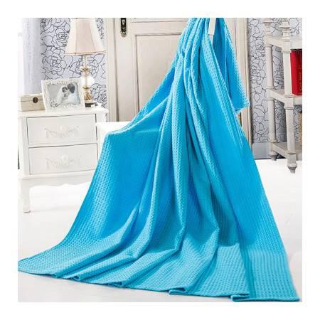 【百花毛巾】新品平纹格毛巾被180*220cm