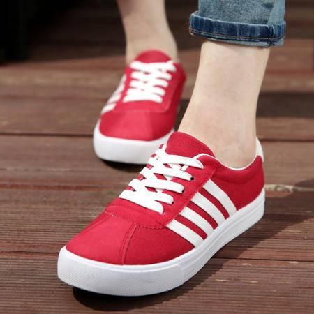 经典韩版女帆布鞋 时尚板鞋校园风女鞋