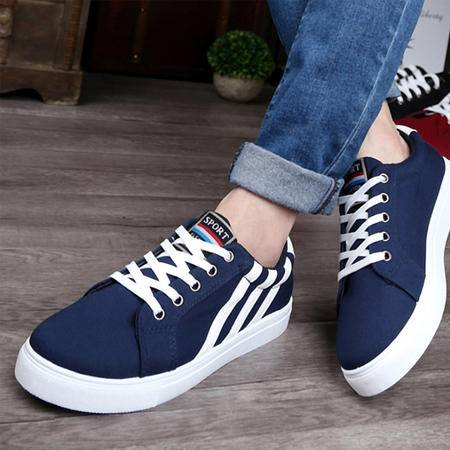 新款男鞋 韩版潮流运动时尚休闲帆布鞋爆款