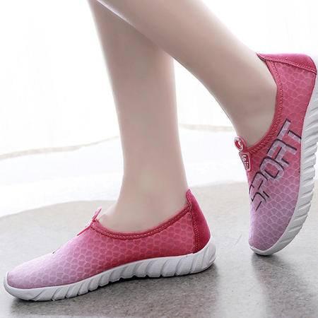 2015夏季女网鞋 韩版透气懒人鞋网鞋时尚运动鞋板鞋爆款