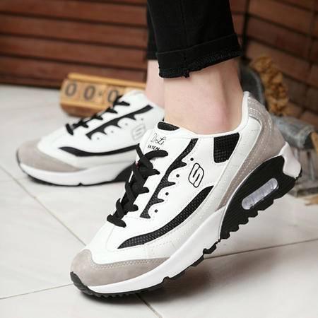 新款时尚女鞋 韩版黑白跑步运动女鞋板鞋