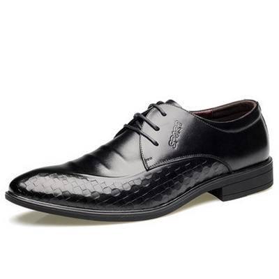 新品真皮 男士商务正装皮鞋男英伦透气尖头婚鞋皮鞋单鞋