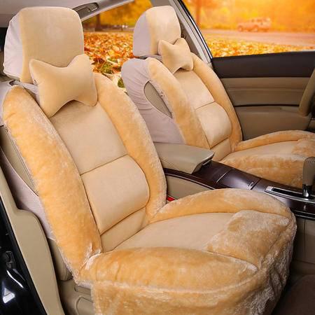 冬季汽车坐垫 通用款保暖全包围毛绒汽车座套