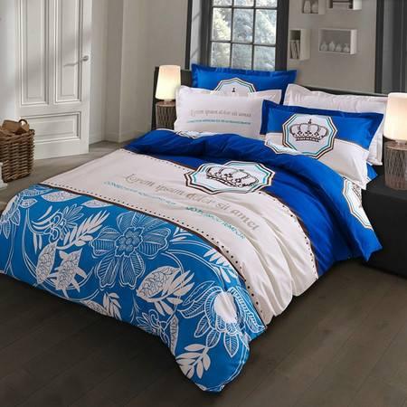 爆款家纺床上用品全活性加厚磨毛四件套植物羊绒棉套件