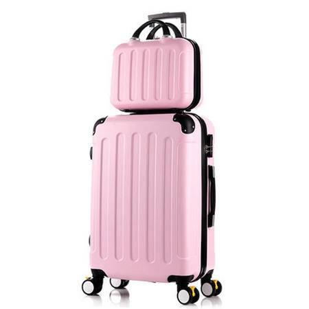京嵘保罗 拉杆箱行李箱万向轮静音子母箱旅行箱ABS密码箱女登机箱 20寸