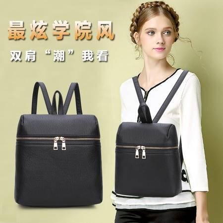 2016新款简约双肩包 时尚韩版学院风书包旅行大容量背包