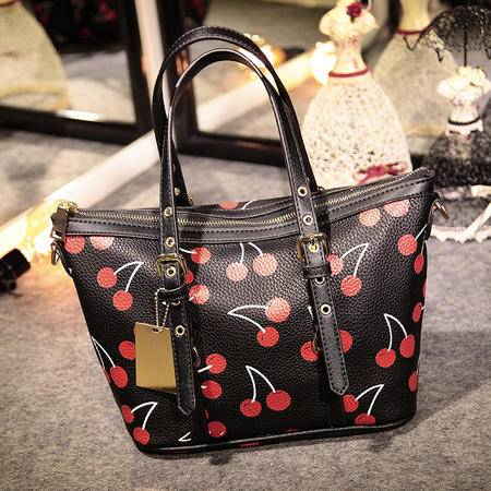 手提斜跨包女包 复古欧美时尚大包包印花大牌潮包购物包
