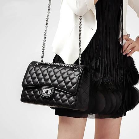 菱格链条包2016春季新品欧美时尚女包品牌高档手提单肩斜跨包