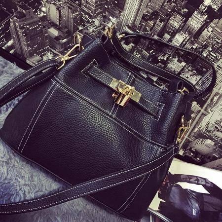 2016春季新款时尚潮欧美女包手提包单肩包斜挎水桶包