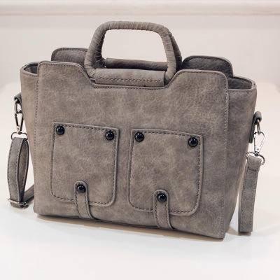 新款硬把手提包简约单肩包复古斜挎包包