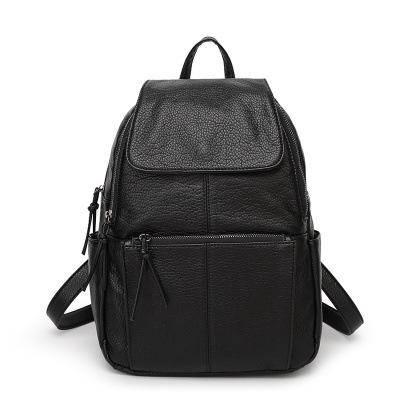 新款潮女包软皮背包四季双肩背包旅游手提书包