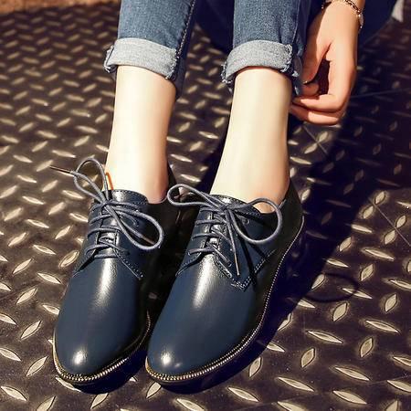【预售】春季韩版简约百搭女鞋 粗跟时尚学院风单鞋女XNNX