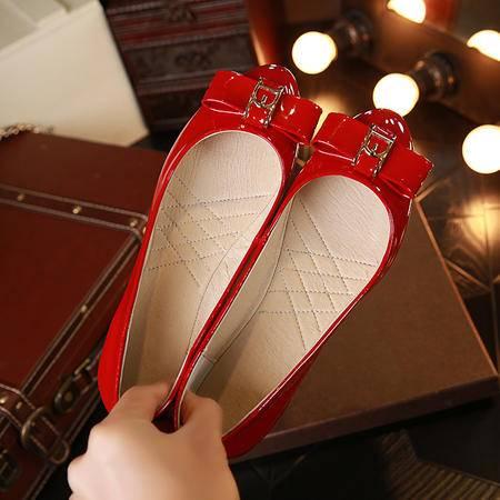 【预售】新款平跟女式单鞋 韩版时尚头层猪里皮舒卷鞋 XNNX