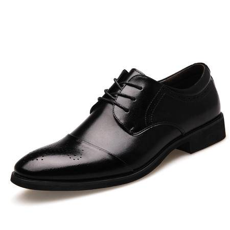 2016春款男士雕花尖头系带正装商务皮鞋单鞋时尚男鞋子JST
