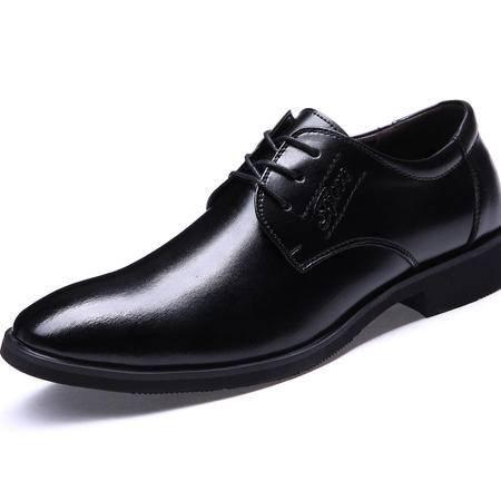 2016新款尖头商务正装皮鞋舒适透气单鞋子男鞋JST
