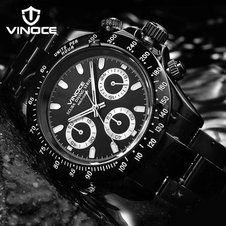 Vinoce/威诺时200米防水运动男表 多功能精钢男式手表男表WNS