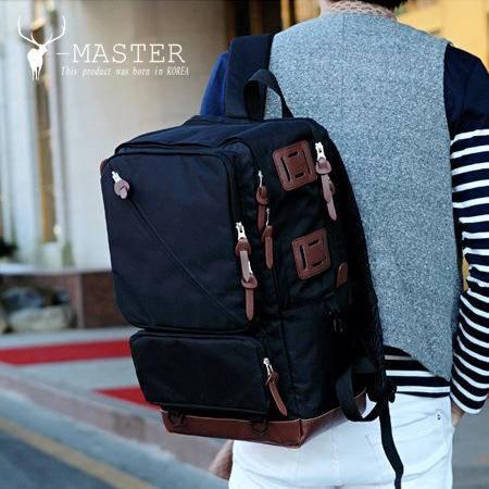 2016韩国男士大容量休闲旅行包背包学生韩版牛津双肩旅游户外MST