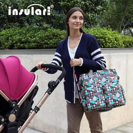 最新欧版时尚多功能妈咪包大容量单肩斜挎妈妈包母婴外出包YXL