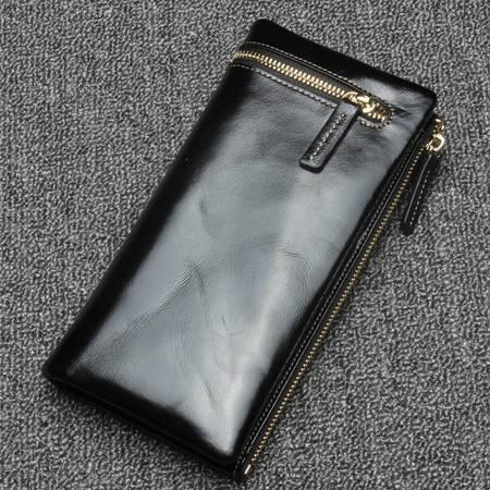 韩版女长款女士真皮钱包大容量牛皮女式手拿包钱夹卡夹JDL