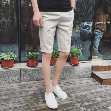 男T恤K102P30 新款纯色夏季短裤休闲裤 短裤 男 韩版TWM