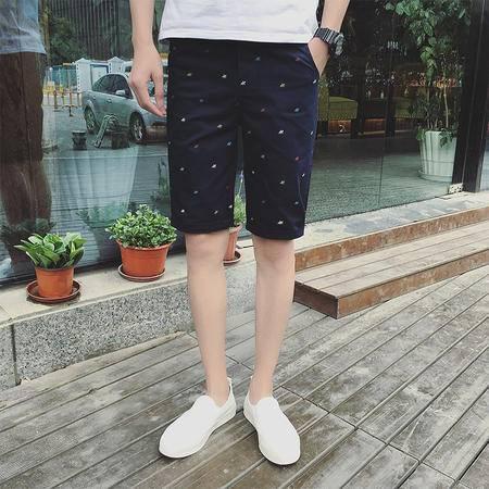 男T恤K088P35 印花纯色夏季短裤休闲裤 短裤 男新版  韩版TWM