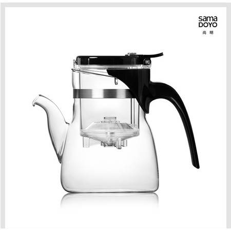 尚明礼品飘逸杯耐热玻璃礼品过滤玻璃茶具带内胆内含两个玻璃杯JR