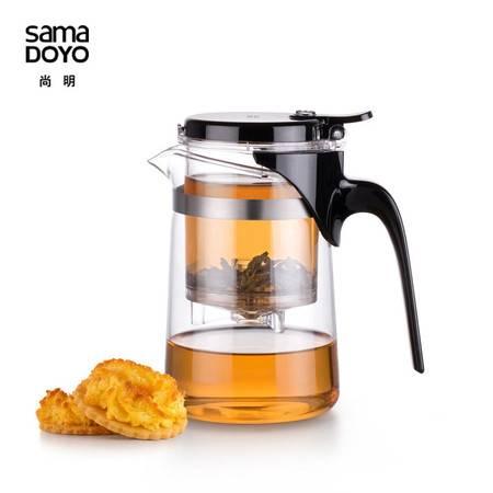 尚明飘逸壶泡茶壶高硼硅耐热玻璃杯茶具可拆洗内胆500mlJR