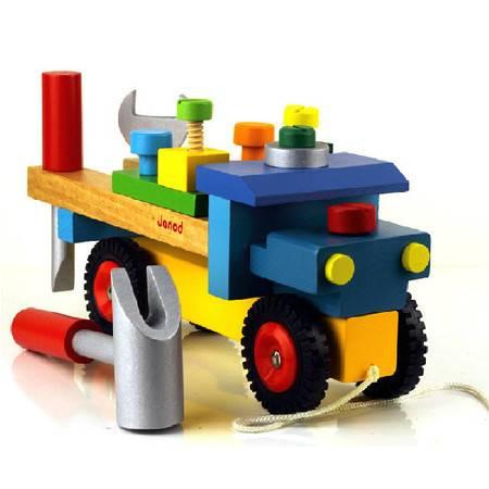 大牌工具拆装螺丝车RB04组装螺母车儿童动手益智木制玩具MGWJ