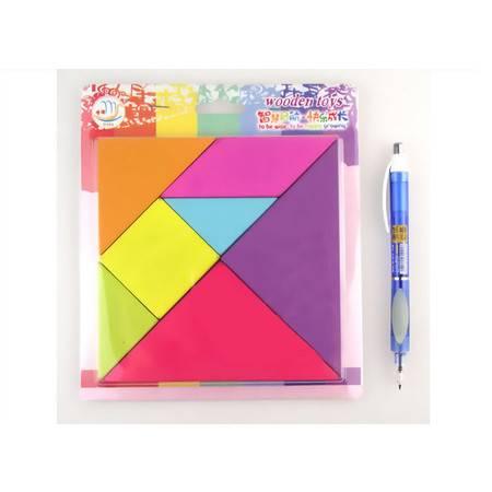 七巧板益智玩具儿童早教玩具木制玩具MY17彩虹七巧板MGWJ