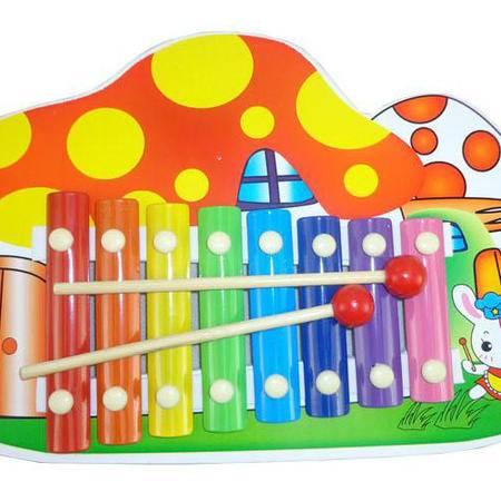 乐器玩具木制八音琴小兔蘑菇手敲琴LT08音乐玩具MGWJ