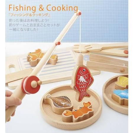 儿童多功能钓鱼切切烹调玩具RB11儿童过家家亲子游戏MGWJ