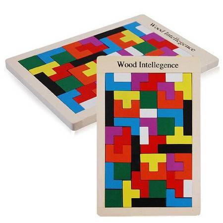 俄罗斯方块智力积木RB13儿童益智热销木质拼图拼板木制玩具MGWJ