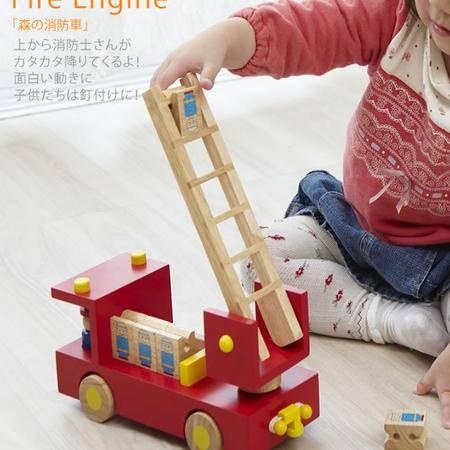 教育署进入森林消防卡车RB47木制玩具梯子教育玩具MGWJ