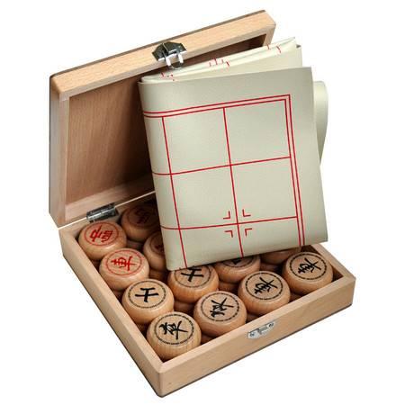 中国象棋大号榉木象棋礼品皮革棋盘木制礼盒益智桌游MGWJ