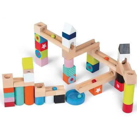 50颗滚珠积木RB30木制儿童益智玩具轨道游戏MGWJ