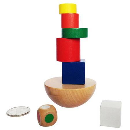益智木制玩具布袋半球平衡游戏RB21balance原装布袋MGWJ