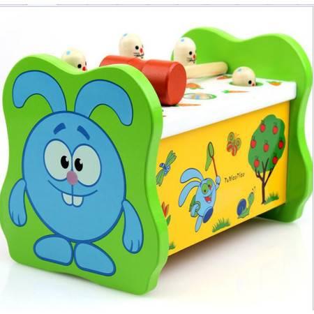 儿童益智打地鼠亲子互动游戏JF31宝宝木制敲击早教玩具1-3岁MGWJ