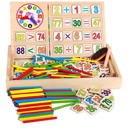 多功能数数棒时钟数字学习盒JJW02彩色计算游戏盒MGWJ