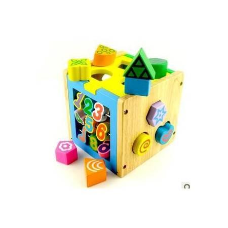 JF25多功能智力盒木制形状智慧盒1宝宝早教教具MGWJ