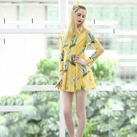 2016夏装新款女装欧美高端显瘦短款打底连衣裙 气质短裙DJD