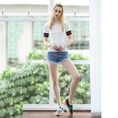 2016夏装新款女装 短袖衬衫女T恤短袖 DJD