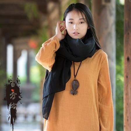 16春夏新品 文艺百搭复古简约森女原创女式棉麻围巾披肩BXF