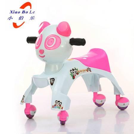 熊猫静音儿童扭扭车滑行车溜溜车摇摆车音乐灯光XBL