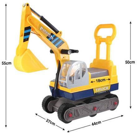 新款儿童挖掘机可坐可骑大号挖土机男孩玩具滑行 工程车TFWJ