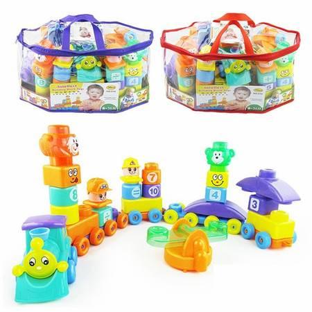 810洪泰大块创意百变托马斯智力积木拼装玩具益智积木玩具TFWJ