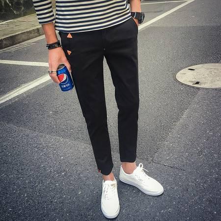 新款男装纯色修身休闲裤 街拍男197-K151-P35 TWM