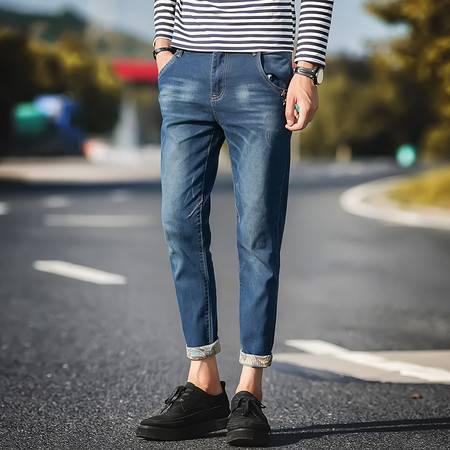 小脚修身型牛仔裤 街拍 197-A199-P40 TWM