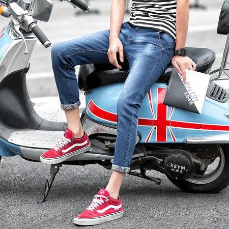 新款小脚韩版修身型男牛仔裤 街拍197-A199-P40  TWM