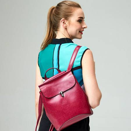 新款休闲真皮双肩包女包情侣包包背包品牌书包JDL