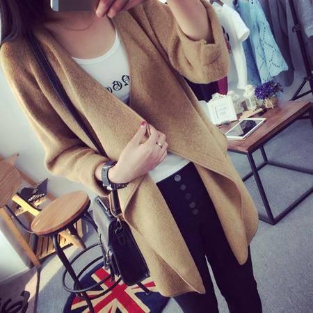 951#新款女装 韩版胖mm秋装针织外套200J斤显瘦风衣外套NXNZ